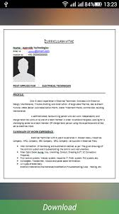 resume format pdf download resume formats download android apps on google play