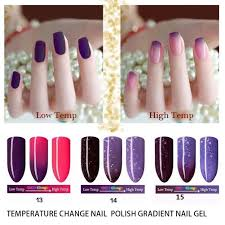 10ml newest beauty makeup high low temperature change nail color