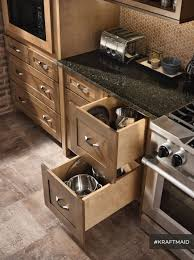 Kitchen Drawer Cabinets Cabinets U0026 Drawer Black Granite Countertop Natural Finishes