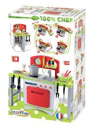 cuisine ecoiffier ecoiffier gourmet kitchen playset multi colour amazon co uk