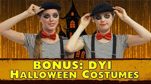 easy homemade halloween costumes diy nina and randa nelson youtube