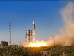blue origin launches and lands the same reusable rocket for the
