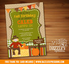 printable kids fall birthday invitation pumpkin patch hay ride