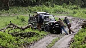 safari jeep safari jeep gets stuck in kaziranga national park u0026 tiger reserve