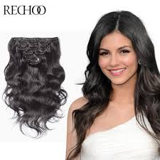 Hair Extension Clip Ins Cheap by Online Get Cheap Remy Human Hair Extensions Clip In Black