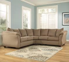 Darcy Mocha Contemporary Sectional Sofa with Sweeping Pillow