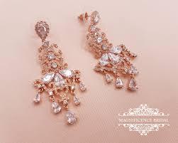 Chandelier Gold Earrings Gold Bridal Earrings Chandelier Internationaldot Net