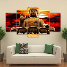 aliexpress com buy 5 panel canvas art home decoration pictures