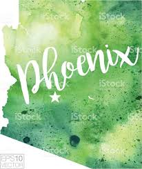 Map Phoenix Arizona by Phoenix Arizona Usa Vector Watercolor Map Stock Vector Art