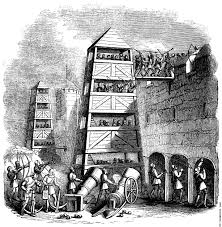 siege canon 1253 breeching tower archers their pavison canon crossbow