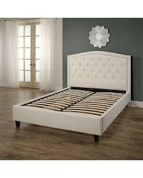 Upholstered Platform Bed King Amazing Deal On Abbyson Hton Ivory Tufted Upholstery Platform