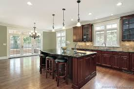 Black Kitchen Cabinets Images Traditional Dark Wood Cherry Kitchen Cabinets 53 Kitchen Design