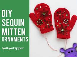 easy diy mitten ornaments for