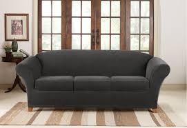 grey slipcover sofa
