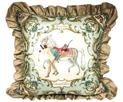 exclusive european designer luxury hermes pillow cheval turc