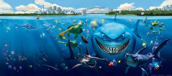 wall mural wallpaper finding nemo 3 sharks bruce anchor u0026 chum