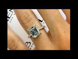 emerald cut engagement rings 3 carat emerald cut engagement ring