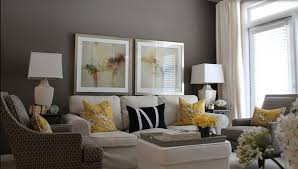 living room amazing yellow wall color with leather modern sofa