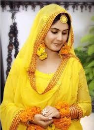 latest pakistani beautiful bridal mehndi dresses 2012 collection