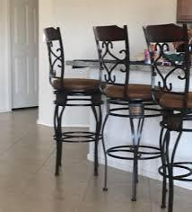 Walmart Bar Stools Set Of 2 Acme Tavio Swivel Bar Chair Set Of 2 Saddle Walmart Com