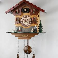 fashion wooden children wall cuckoo clock alarm clock with bird