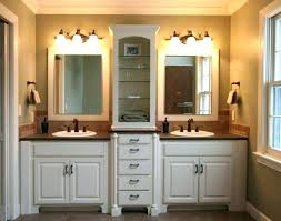 double sink vanity with middle tower beautiful double vanity with tower double bathroom sink double sink