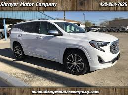 2018 gmc terrain white new and used cars for sale big spring tx shroyer motor company