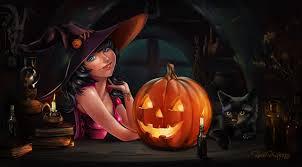 jack o lantern desktop wallpaper cats hat fantasy pumpkin halloween holidays