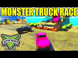 gta 5 epic jobs monster truck race gta grand theft auto