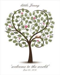 baby shower fingerprint tree baby shower tree guest book template