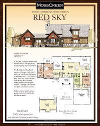 One Level Living Floor Plans Red Sky Builder Floor Plan The Coves Mountain River Club