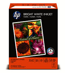 hp bright white inkjet paper 8 12 x 11 24 lb ream of 500 sheets by