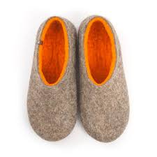 mens house shoes dual natural orange by wooppers