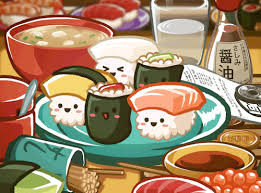 animation cuisine food kawaii animation fish