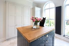 bespoke in frame shaker hand painted with farrow ball cornforth bespoke in frame shaker hand painted with farrow ball cornforth white hague blue another quality installation by earle ginger kitchens