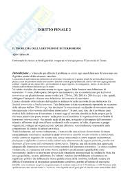 dispense diritto penale diritto penale 2 terrorismo dispense