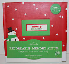 recordable photo album hallmark gifts merry memories recordable memory