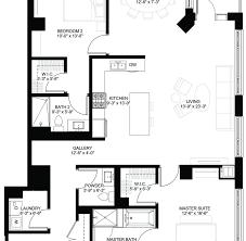 Schematic Floor Plan by Luxury Condos Lincoln Park Webster Square Condos