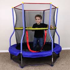Mini Trampoline With Handrail Pure Fun 48