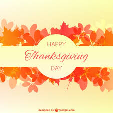happy thanksgiving card with autumn leaves vector free
