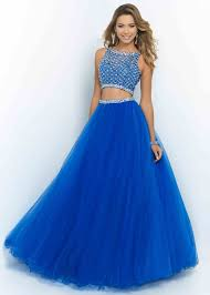 blue 2 piece prom dress gown and dress gallery