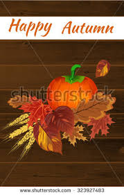 happy thanksgiving day concept pumpkin autumn stock vector 323927483