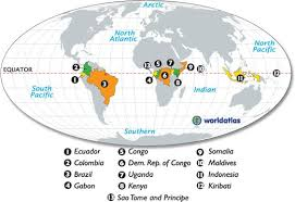 map of equator countries on the equator map aka places i want to live places