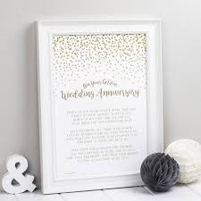 50th wedding anniversary poems golden wedding anniversary poem print by bespoke verse