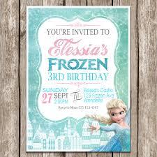birthday invitation frozen ideas free frozen birthday