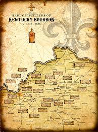 kentucky map bardstown kentucky bourbon distillers print 11 x 15
