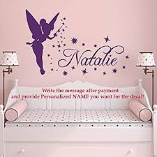 tinkerbell decorations for bedroom amazon com name wall decal tinkerbell vinyl decals sticker magic