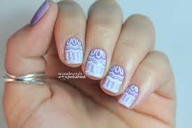 wondrously polished 31 day nail art challenge day 6 violet nails