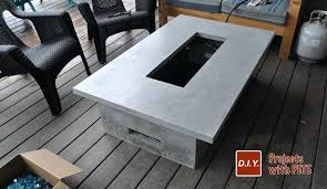 Diy Gas Firepit How To Build A Gas Pit Table Gorgeous Gas Outdoor