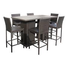 incredible patio pub table tk classics napa pub table set with